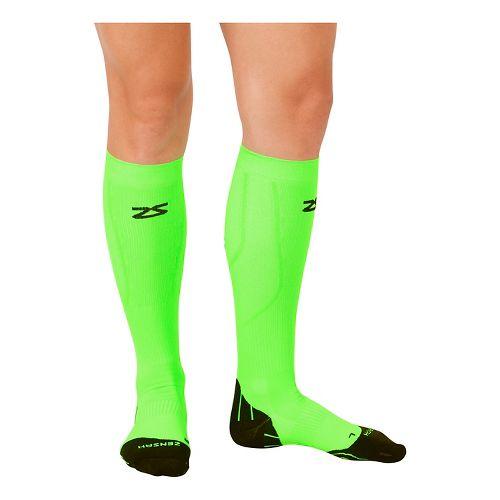 Zensah Tech+ Compression Socks Injury Recovery - Neon Green M