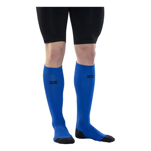 Zensah Tech+ Compression Socks Injury Recovery - Electric Blue M