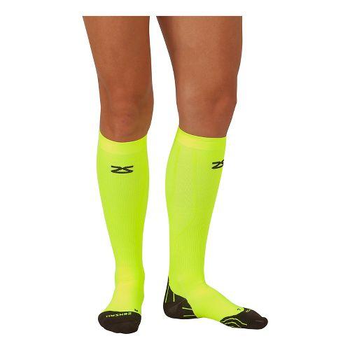Zensah Tech+ Compression Socks Injury Recovery - Neon Yellow XL