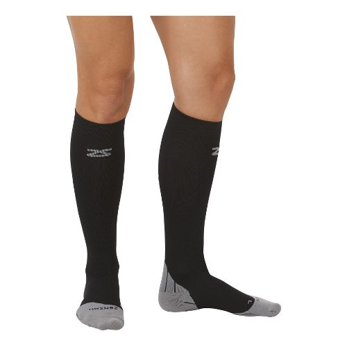 Zensah Tech+ Compression Socks Injury Recovery - Black M