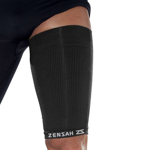 Zensah Thigh Compression Sleeve Injury Recovery - Black L/XL