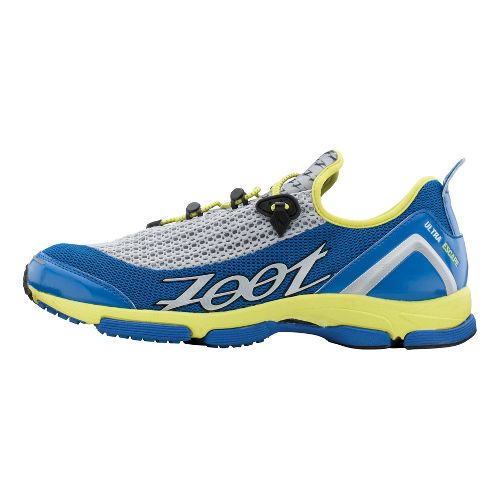 Mens Zoot Ultra Tempo 5.0 Running Shoe - Blue/Lime 10.5