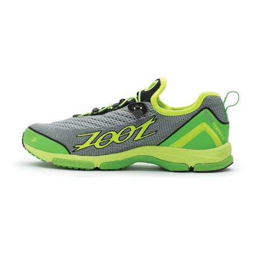 Mens Zoot Ultra Tempo 5.0 Running Shoe - Silver/Green 8.5