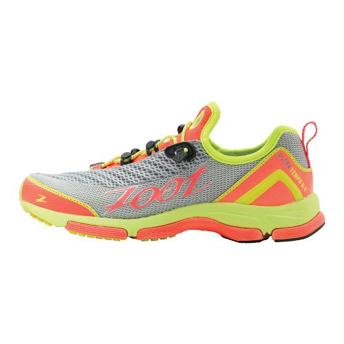 Womens Zoot Ultra Tempo 5.0 Running Shoe - Silver/Coral 7.5