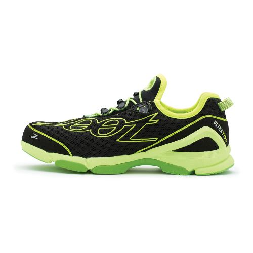 Mens Zoot Ultra TT 6.0 Running Shoe - Black/Green 10.5