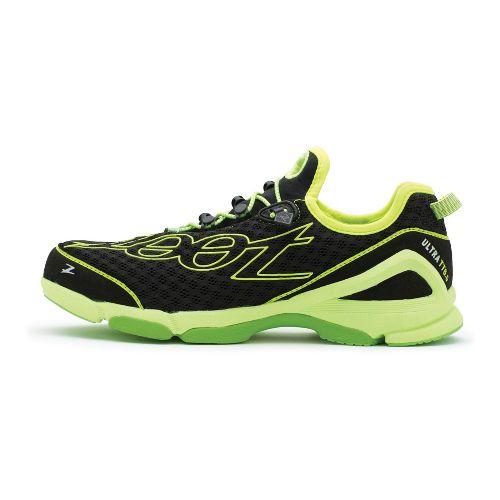 Mens Zoot Ultra TT 6.0 Running Shoe - Black/Green 11.5