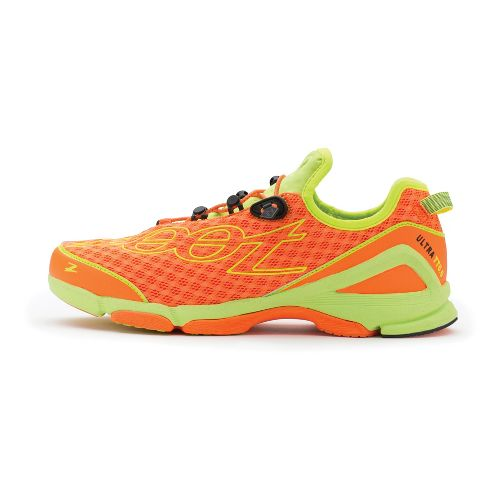 Mens Zoot Ultra TT 6.0 Running Shoe - Blaze/Safety Yellow 7.5