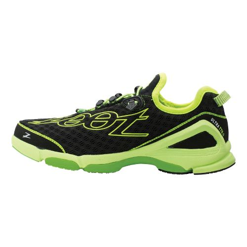 Womens Zoot Ultra TT 6.0 Running Shoe - Black/Green 10.5