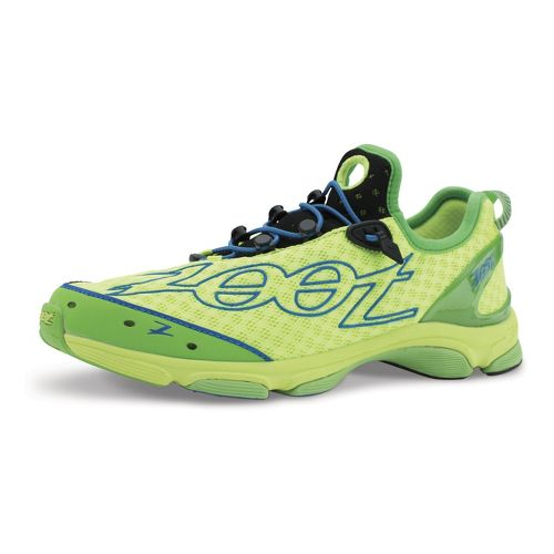 Mens Zoot Ultra TT 7.0 Running Shoe - Yellow/Green 10.5