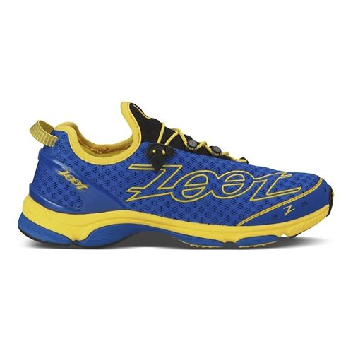Mens Zoot Ultra TT 7.0 Running Shoe - Blue/Yellow 10.5