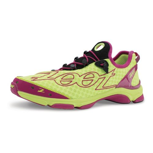 Womens Zoot Ultra TT 7.0 Running Shoe - Yellow/Pink 10.5