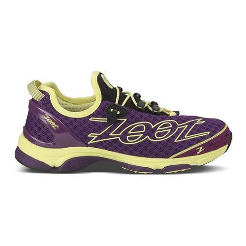 Womens Zoot Ultra TT 7.0 Running Shoe - Purple/Yellow 7.5