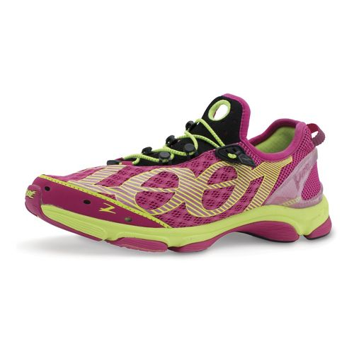 Womens Zoot Ultra Tempo 6.0 Running Shoe - Pink/Yellow 6.5