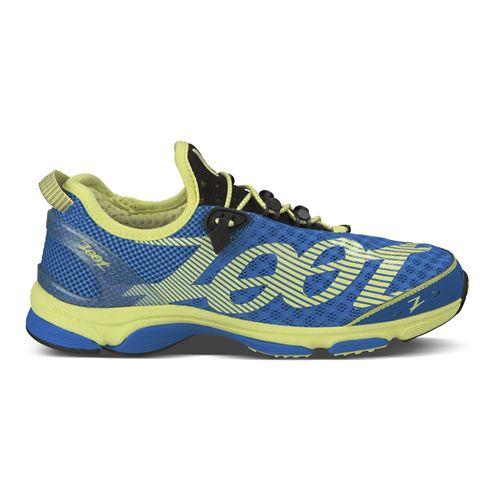 Womens Zoot Ultra Tempo 6.0 Running Shoe - Blue/Yellow 6.5