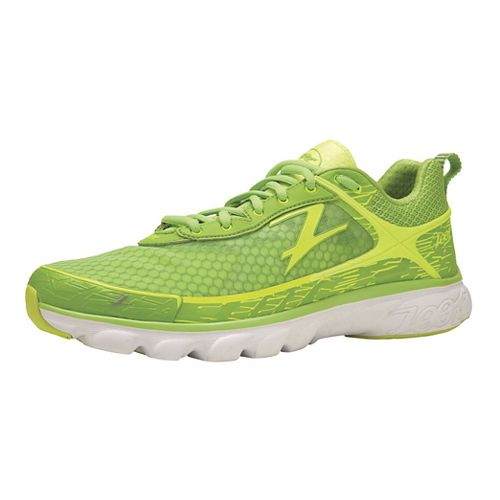 Mens Zoot Solana Running Shoe - Green Flash/Safety Yellow 14