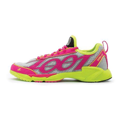 Womens Zoot OVWA 2.0 Running Shoe - Silver/PinkGlo 10