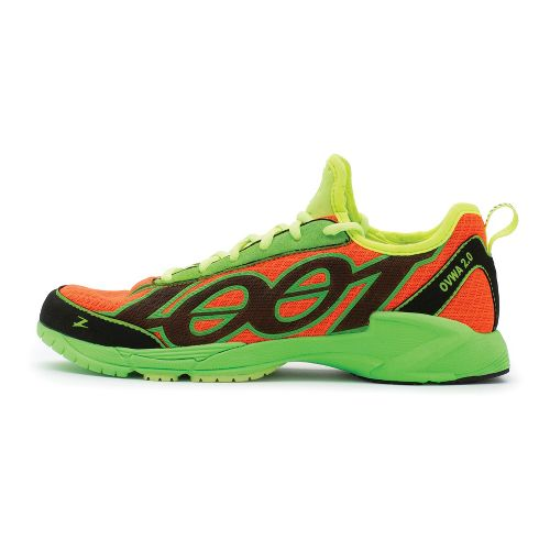 Mens Zoot OVWA 2.0 Running Shoe - Blaze/Safety Yellow 10.5