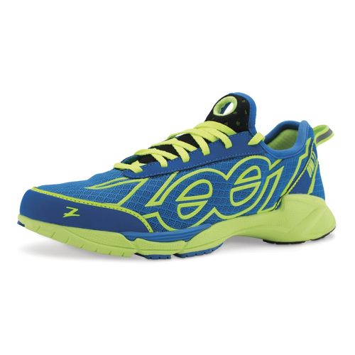 Mens Zoot OVWA 2.0 Running Shoe - Zoot Blue/Safety Yellow 10.5