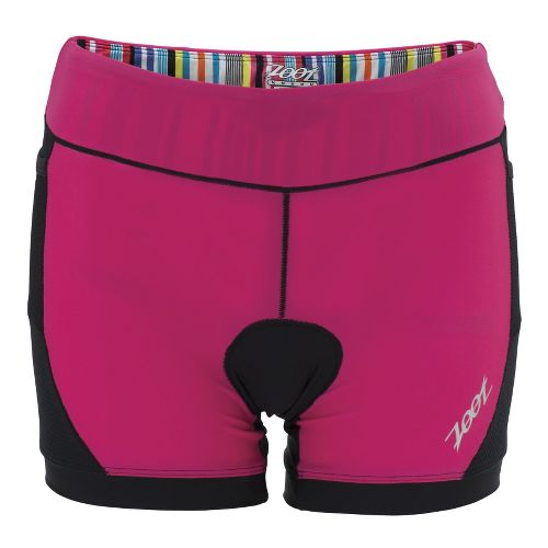 Womens Zoot Performance Tri 4 Inch Fitted Shorts - Black/Beet XS
