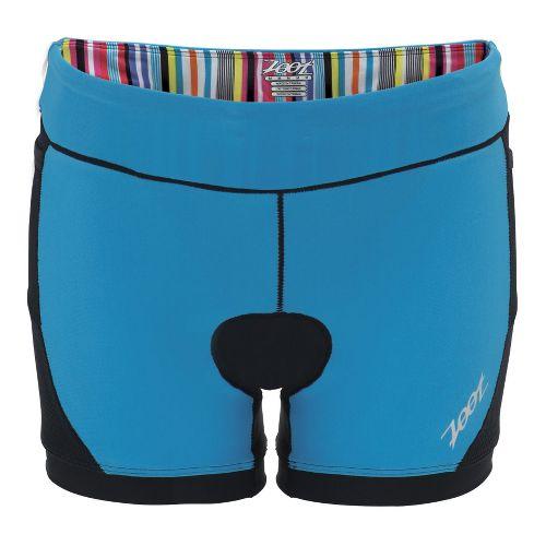 Womens Zoot Performance Tri 4 Inch Fitted Shorts - Black/Splash M