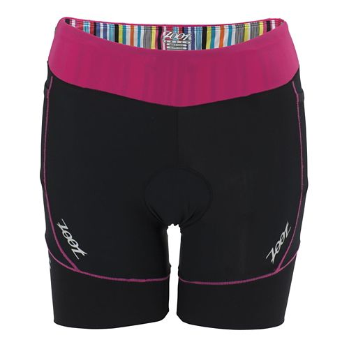Womens Zoot Performance Tri 6 Inch Fitted Shorts - Black/Beet XL