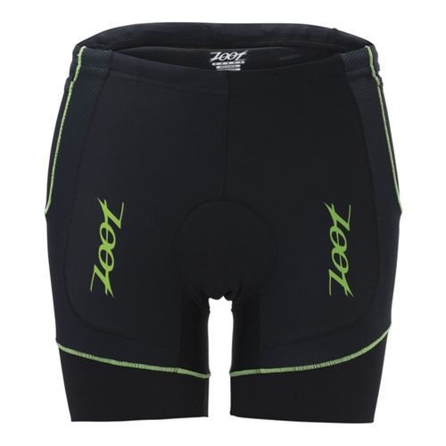 Mens Zoot Performance Tri 6 Inch Fitted Shorts - Black/Green Flash XL
