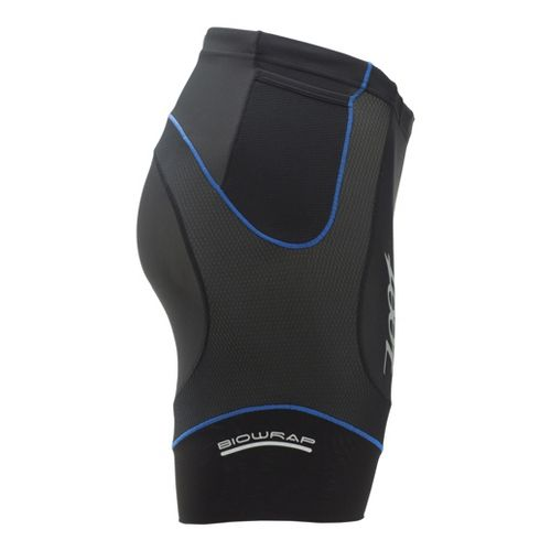 Mens Zoot Performance Tri 6 Inch Fitted Shorts - Black/Zoot Blue L