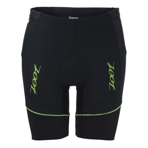 Mens Zoot Performance Tri 8 Inch Fitted Shorts - Black/Green Flash L
