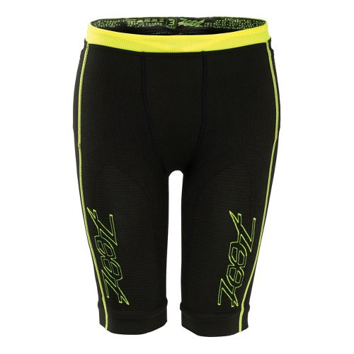 Mens Zoot Ultra 2.0 CRx Fitted Shorts - Black/Safety Yellow 4