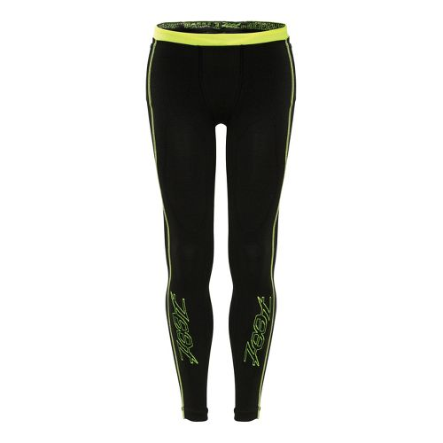 Mens Zoot Ultra 2.0 CRx Fitted Tights - Black/Safety Yellow 1