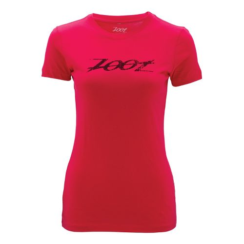 Womens Zoot Logo Tee Short Sleeve Non-Technical Tops - Shocking Pink L