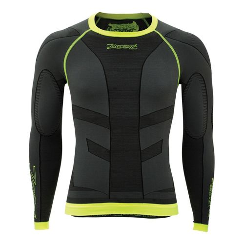 Zoot Recovery 2.0 CRx Long Sleeve No Zip Technical Tops - Graphite/Safety Yellow 3