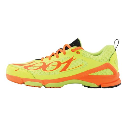 Mens Zoot TT Trainer 2.0 Running Shoe - Safety Yellow/Blaze 12
