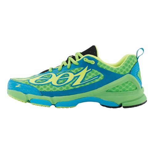Womens Zoot TT TRAINER 2.0 Running Shoe - Green Flash/Atomic Blue 7
