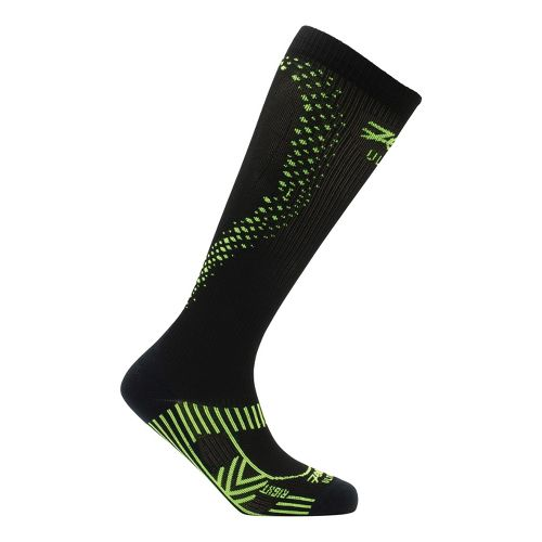 Mens Zoot ULTRA 2.0 CRx Socks - Black/Safety Yellow 4