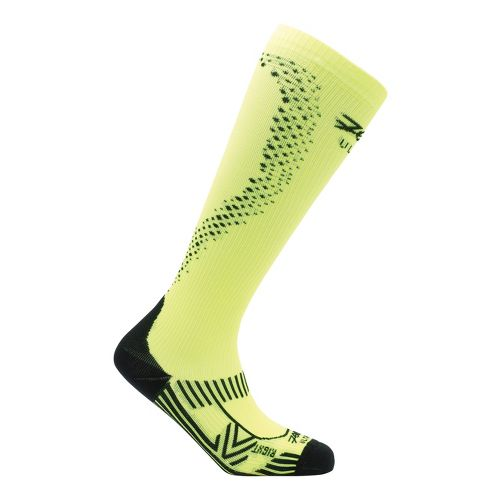 Mens Zoot ULTRA 2.0 CRx Socks - Safety Yellow/Black 4