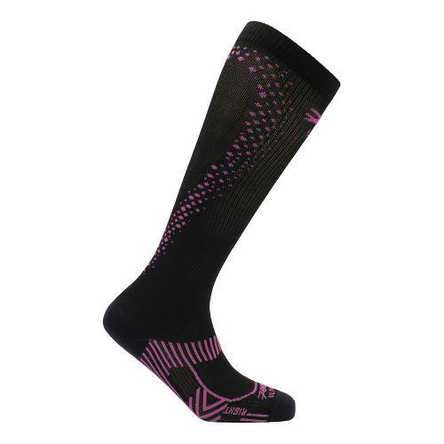 Womens Zoot ULTRA 2.0 CRx Socks - Black/PinkGlo 4