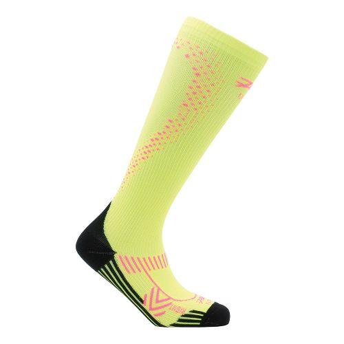 Womens Zoot ULTRA 2.0 CRx Socks - Safety Yellow/PinkGlo 3