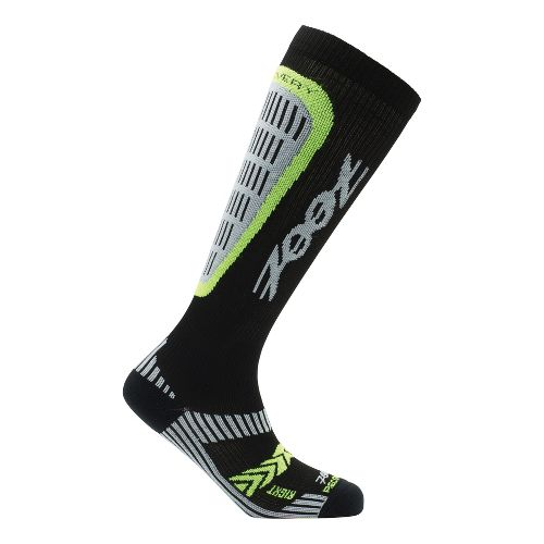 Mens Zoot ULTRA Recovery 2.0 CRx Socks - Black/Safety Yellow 4