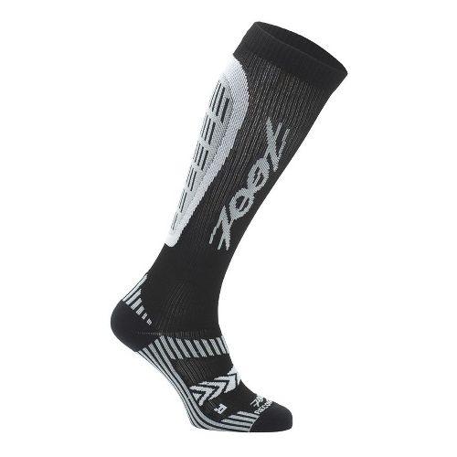 Womens Zoot ULTRA Recovery 2.0 CRx Socks - Black/Graphite 3