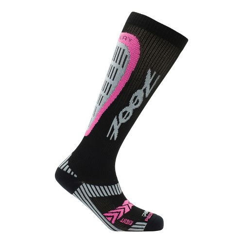 Womens Zoot ULTRA Recovery 2.0 CRx Socks - Black/PinkGlo 3