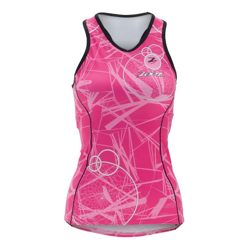 Womens Zoot ULTRA Tri BCRF Racerback Singlets Technical Tops - Pink M