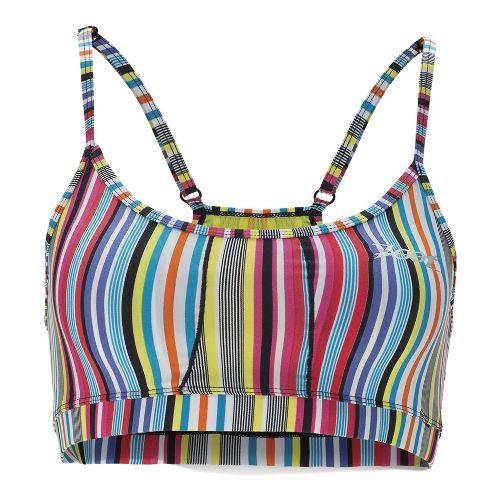 Womens Zoot Performance Tri Cami Sports Bras - Spectrum Stripe S