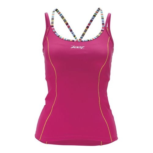 Womens Zoot Performance Tri Cami Sport Top Bras - Beet L