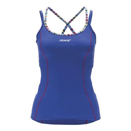 Womens Zoot Performance Tri Cami Sport Top Bras - Violet Blue L