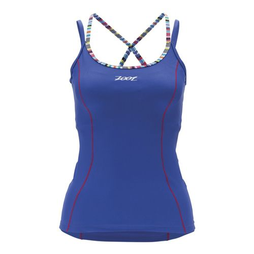 Womens Zoot Performance Tri Cami Sport Top Bras - Violet Blue XL