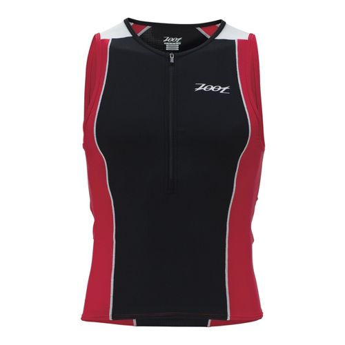 Mens Zoot Performance Tri Tanks Technical Tops - Black/Zoot Red XS