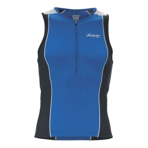 Mens Zoot Performance Tri Tanks Technical Tops - Zoot Blue/Pewter XL