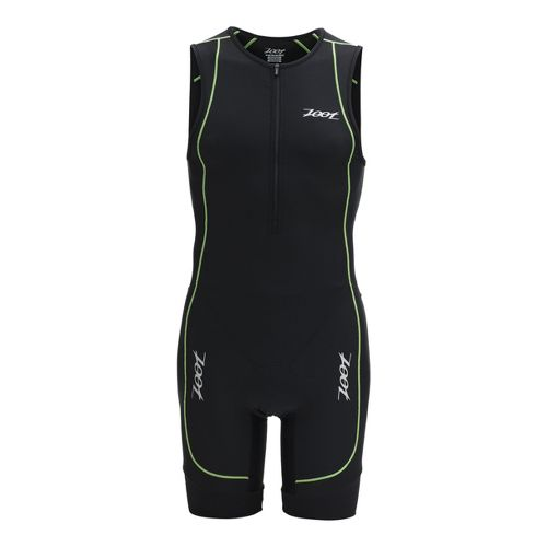 Mens Zoot Performance Racesuit Triathlon UniSuits - Black/Green Flash L