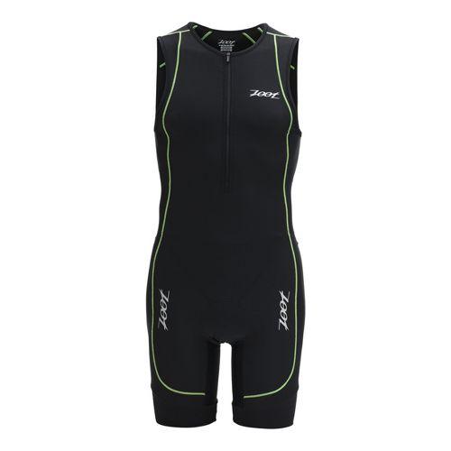 Mens Zoot Performance Racesuit Triathlon UniSuits - Black/Green Flash M